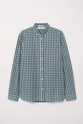 H&M Regular Fit Poplin Shirt - Green