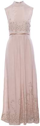 IMAIMA - Niloofar Hand-Embroidred Maxi Dress In Pink