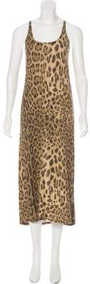 Simonetta Ravizza Animal Print Maxi Dress