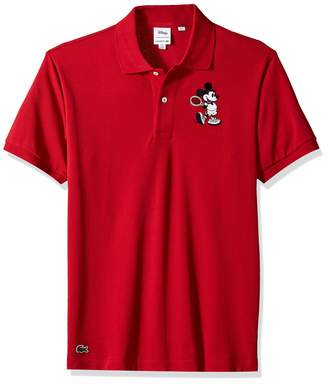 Lacoste Men's Short Sleeve Orginal FIT Mickey Polo, red/Lighthouse