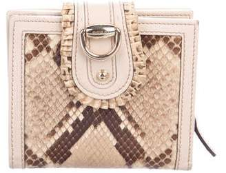 0b2092fc8c9b58 Gucci Python Ruffle Compact Wallet