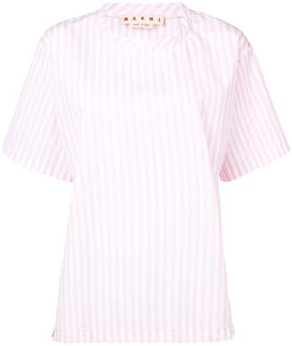 Marni striped oversized T-shirt