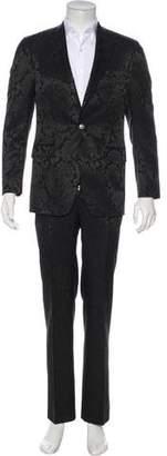 Versace Paisley Wool-Blend Suit