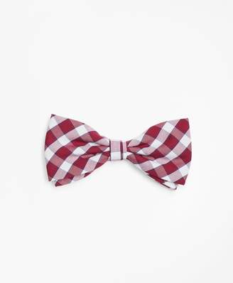 Brooks Brothers Check Pre-Tied Bow Tie