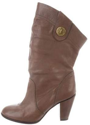 Marc by Marc Jacobs Leather Mid-Calf Boots