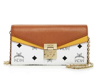 MCM Patricia Visetos Leather Chain Wallet