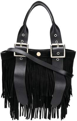 Sacai fringed tote bag
