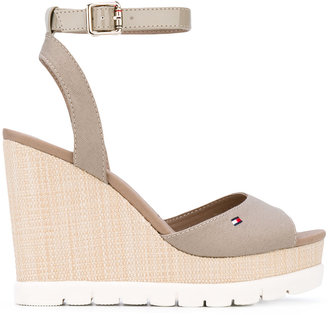 Tommy Hilfiger wedged sandals $102.34 thestylecure.com