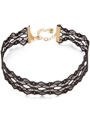 Vanessa Mooney Wide Lace Choker Necklace $33 thestylecure.com