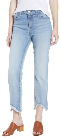 7 For All Mankind(R) Edie Wave Hem Straight Leg Jeans