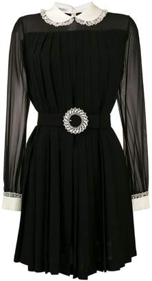 Miu Miu contrast collar mini dress