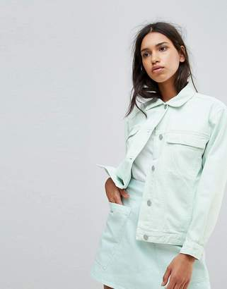 WÅVEN Karin Oversized Pale Mint Denim Jacket