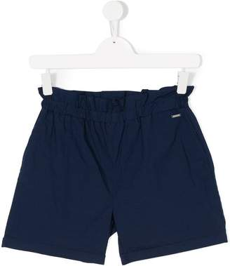 Woolrich Kids TEEN paper bag waist shorts