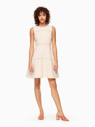 Kate Spade Studded crepe dress