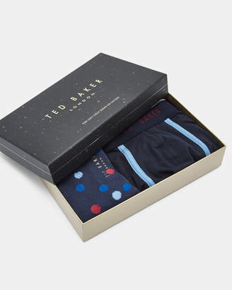 Ted Baker SURFER Boxer and sock gift set
