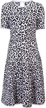 Carolina Herrera snow leopard print dress