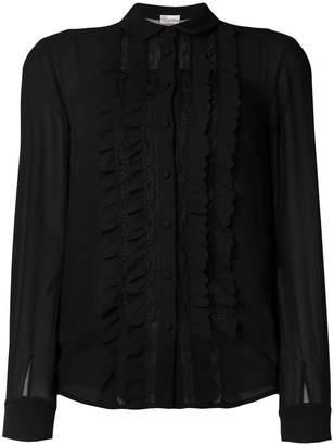 RED Valentino ruffle lace panel shirt