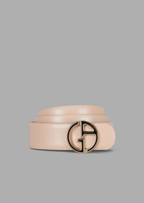 Giorgio Armani Reversible Leather Belt With Metal Logo