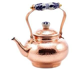 Old Dutch 2 Qt. Solid Copper Hammered Tea Kettle w/Ceramic Knob/Handle