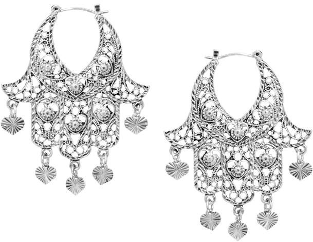 Asos Hamsa Hoop Earrings - Silver