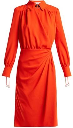Altuzarra Kat Wrap Front Dress - Womens - Orange