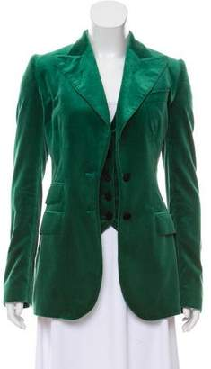Dolce & Gabbana Two-Piece Velvet Blazer