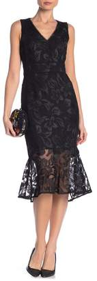 Rachel Roy Embroidered Lace Midi Dress