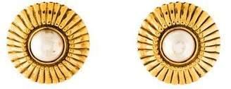 Chanel Pearl Medallion Earrings