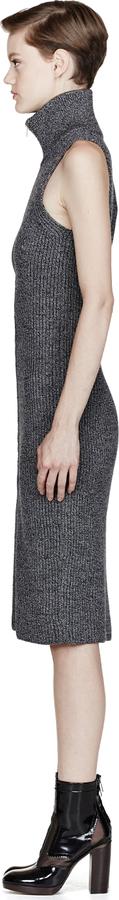Maison Martin Margiela Black & White Knit Tunic Dress