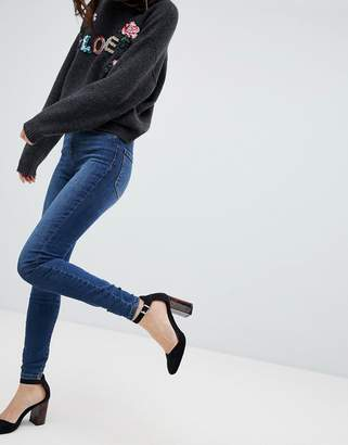Vero Moda high waisted skinny jean in blue
