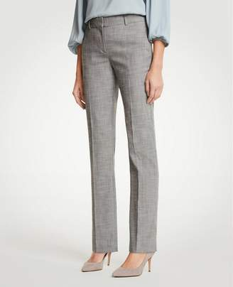 Ann Taylor The Petite Straight Leg Pant In Crosshatch - Classic Fit