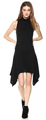 Painted Heart Women's Sleeveless Turtle Neck Fit-and-Flare Sweater Knit Jersey Dress