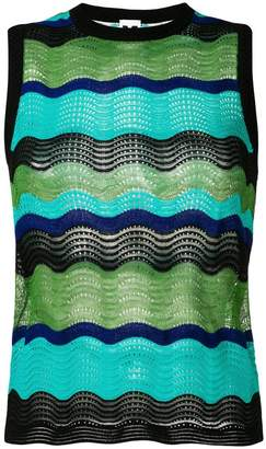 M Missoni colour-block embroidered top