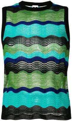 M Missoni colour-block embroidered top