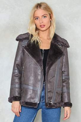 Nasty Gal Feelin' Fly Aviator Jacket