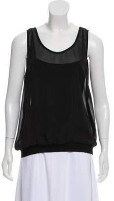 Sonia Rykiel Silk Sleeveless Top Black Silk Sleeveless Top