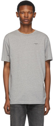 Off-White Off White Grey and Black Logo Slim T-Shirt