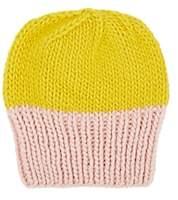 Albertus Swanepoel Women's Two-Tone Wool Beanie - Yellow