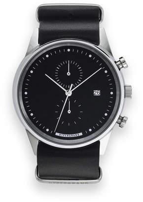 Hypergrand UK Streetstyle Maverick Black Leather Chronograph Watch