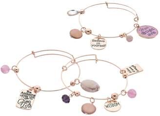 """""""Believe"""" Bangle Bracelet Set"""