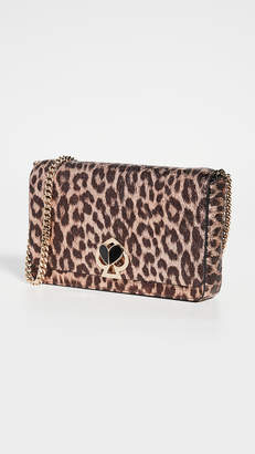 Kate Spade Nicola Metallic Leopard Chain Wallet