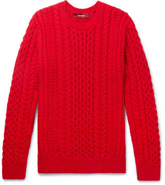 Sies Marjan Lou Oversized Cable-Knit Cotton Sweater