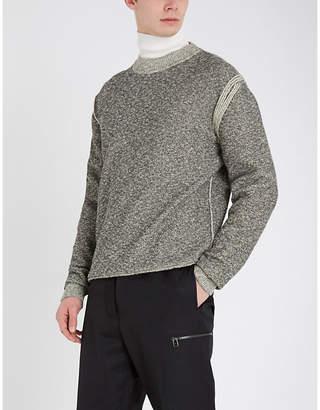 Jil Sander Exposed-seam crewneck cotton-blend jumper