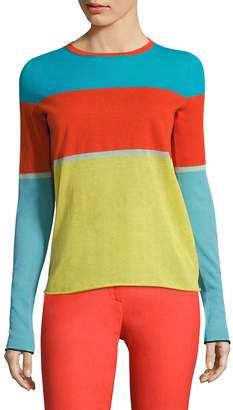 Diane von Furstenberg Women's Colorblock Long Sleeve Tee
