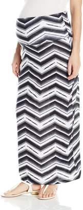 Three Seasons Maternity Women's Maternity Printed Long Maxi Skirt