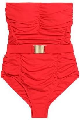 Melissa Odabash Belted Ruched Swimsuit