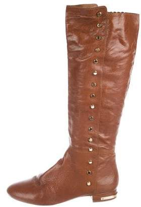 MICHAEL Michael Kors Patent Leather Stud-Embellished Boots