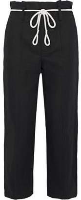Vince Linen And Cotton-blend Twill Straight-leg Pants