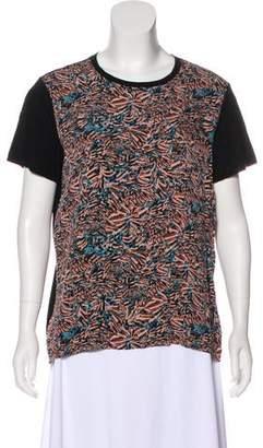Proenza Schouler Silk Brush Stroke T-Shirt