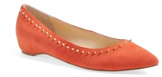 Ivanka Trump 'Cecille' Studded Pointy Toe Flat (Women) $124.95 thestylecure.com